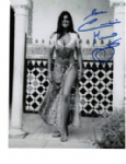 Caroline Munro signed 10 by 8 star of Dracula, Sinbad, Bond #9